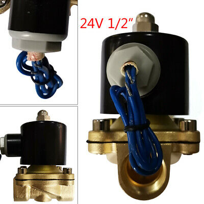 2-way Normally Closed 12 Npt 24v Electric Brass Solenoid Valve For Air Water