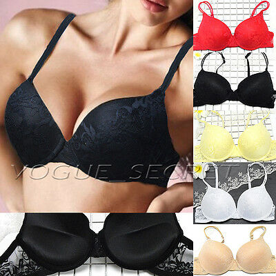 Women Push Up Lace Bra Brassiere Underwire Padded Lingerie Underwear A B C D Cup