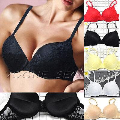e13d02df58176 Women Push Up Lace Bra Brassiere Underwire Padded Lingerie Underwear A B C  D Cup
