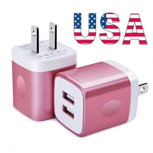 Universal 2 Ports USB Hub Wall Charger Adapter Fast Charging
