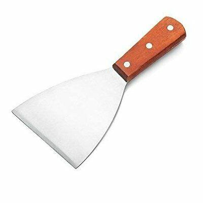 Stainless Steel Spatula Wood Handle Grill Scrapper 8