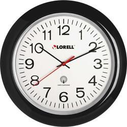 Lorell 13-1/4 Radio Controlled Wall Clock - Analog - Quartz - Atomic