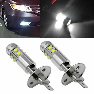 2x H1 6000K Super White 100W High Power LED Fog Light Driving Bulbs DRL Hot