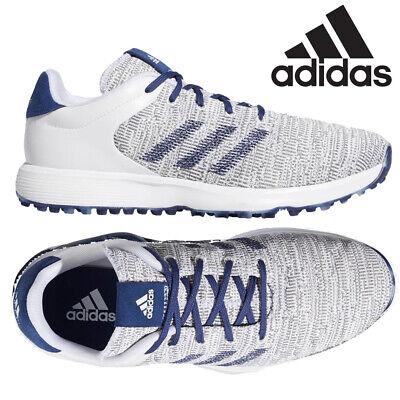 Adidas S2G Men's Spikeless Golf Shoes - White/Indigo/Grey - NEW! 2020