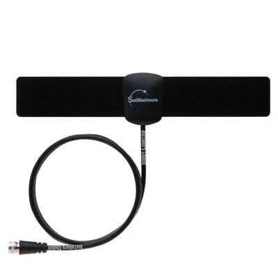 Indoor TV Antenna Digital HDTV VHF UHF FM Flat 25 Miles Range