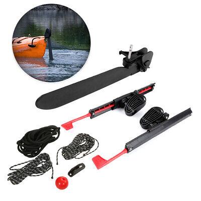 2 x Adjustable Locking Foot Pedals Braces Tail Rudder Kayak Steering Accessories