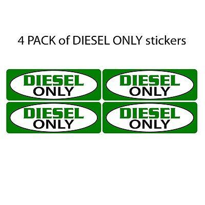 Diesel Fuel Only Sticker Decal Set.