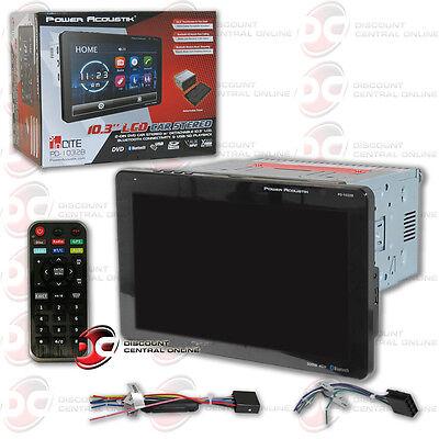 "Power Acoustik Double Din CD DVD In-Dash 10.3"" Bluetooth Car"