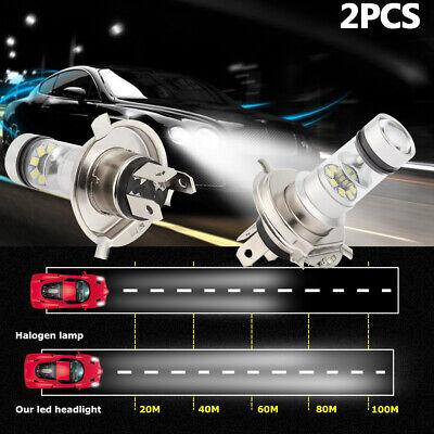 H4 9003 HB2 100W Hi/Lo 90W Beam LED Headlight Fog Light Driving DRL Lamp White