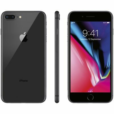 APPLE IPHONE 8 PLUS 64GB SPACE GRAY NERO 64 GB 5,5 NUOVO GARANZIA ITALIA 64 GB