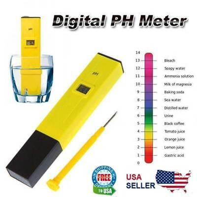 Digital PH Meter Tester Hydroponic Pool Water Aquarium Pocket Portable Wine New Home & Garden