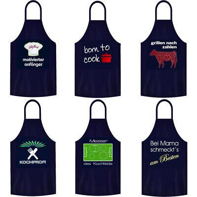 BBQ Grillschürze Kochschürze Partyschürze Küchenschürze Herren Sprüche Geschenk