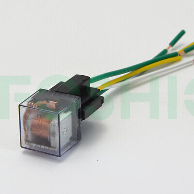 1 Set 12v 60a Relay Automotive With Harness Socket 4-pin Spst Normally Open New