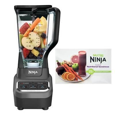 Ninja Practised 1000W Blender and 75 Recipe Cookbook (Certified Refurbished)