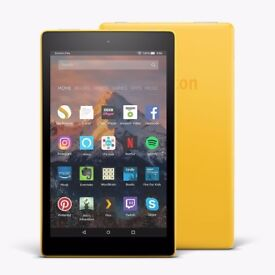 """All-New Fire HD 8 Tablet with Alexa 8"""" HD Display 16 GB Canary Yellow with Special Offers New Sealed"""