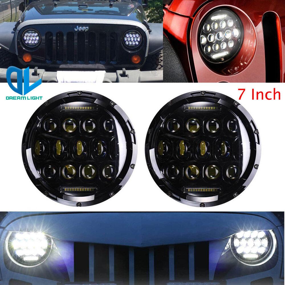 "7/"" LED  Headlight Hi//Lo For 1965-1985 Toyota Land Cruiser FJ40 2007-2014"