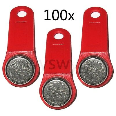iButton tag TM Card DS1990A-F5 with wall-mounted holder of Door Access 100P Red