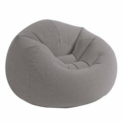 Dorm Chair Beanless Bean Bag Lounge Inflatable Seat Gaming Room Big Lounger New (Furniture Beanless Bag)