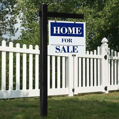 6ft Upvc Real Estate Sign Post Open House Yard Garden Office For Sale With Stake