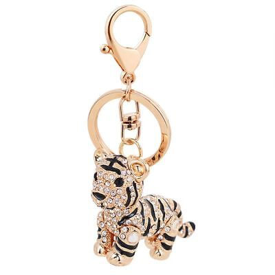 Tiger Keychain (Cute Rhinestone Tiger Shape Gift Key Chain Ornament Key Holder Handbag)