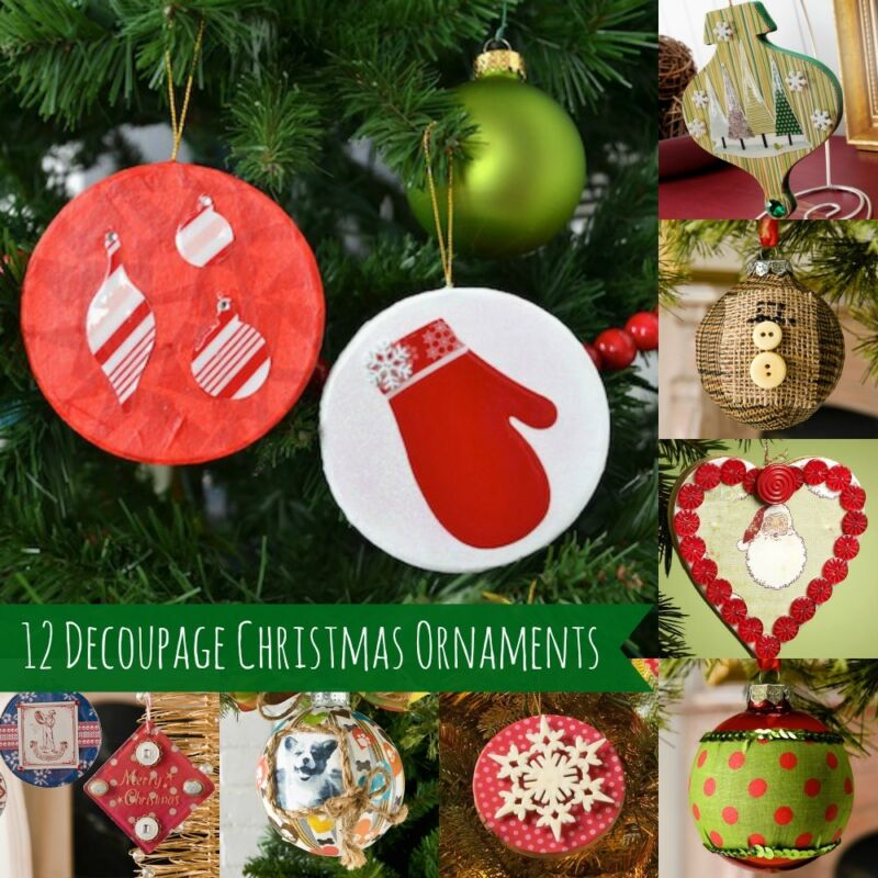 christmas decorations craft ideas 12 awesome decoupage ornaments to make ebay 3612
