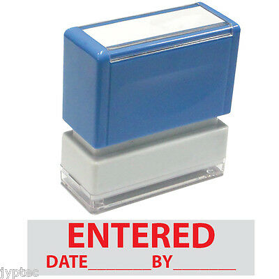 Entered Date By  Jyp Pa1040 Pre-inked Rubber Stamp Red Ink