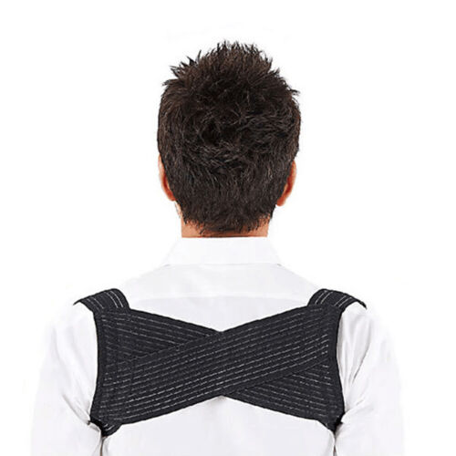 Shoulders Back Support Posture Corrector Brace Belt Relief Collar Bone Pain US Health & Beauty