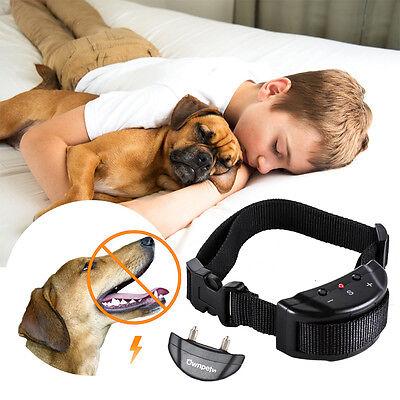 Electric Pet Dog Anti Bark No Barking Training Collar Safe Tone Shock Control