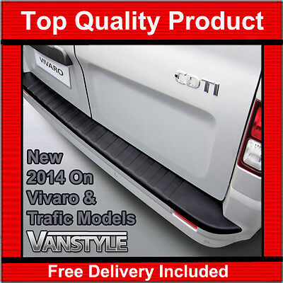 VAUXHALL OPEL VIVARO 2014 On REAR BUMPER PROTECTOR TOUGH ABS BLACK STOPS DAMAGE