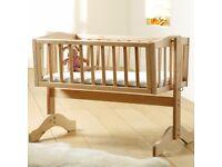 Saplings Bethany Swinging Crib (Natural) - 6 Months older
