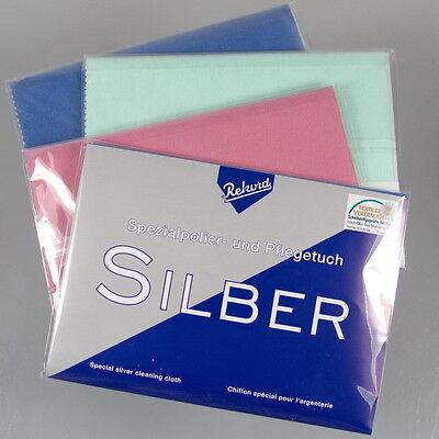 1 x RIESEN Silber Putztuch Pflegetuch für Schmuckreinigung Schmuck Poliertuch