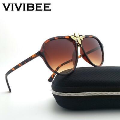 VIVIBEE Unisex Big Bee Aviator Sunglasses Ladies Unique Brand Designer (Unique Sunglasses Brands)