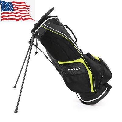 5c5df007b134 Golf Stand Bag Cart Bag 14 Way Full Length Individual Divider Top Golf Bag  F9R0