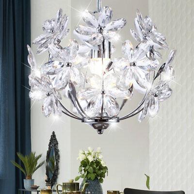 Acrílico Flores Araña Lámpara Colgante Péndulo Luz Cubrir Cocina Pasillo Araña