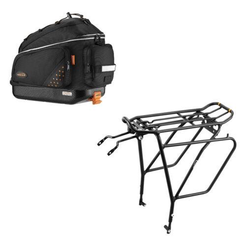 Ibera Bike Trunk Bag Rear Carrier Rack (Disc Brake Mount) Combo Commuter Bag