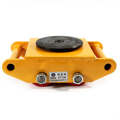 6 Ton13200lb Machinery Mover Dolly Skate Roller 360 Rotation Heavy Duty Yellow