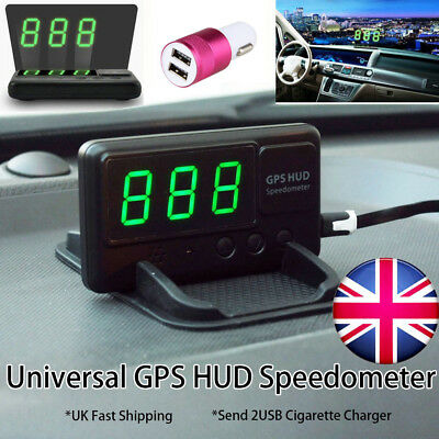 Universal Car GPS HUD Head Up Display Speedometer Overspeed Alarm Warning System