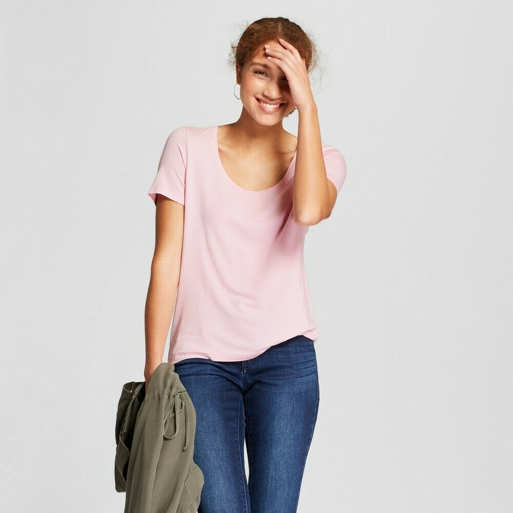 Women's Any Day Short Sleeve Scoop T-Shirt – A New Day Light Pink Xxl Clothing, Shoes & Accessories