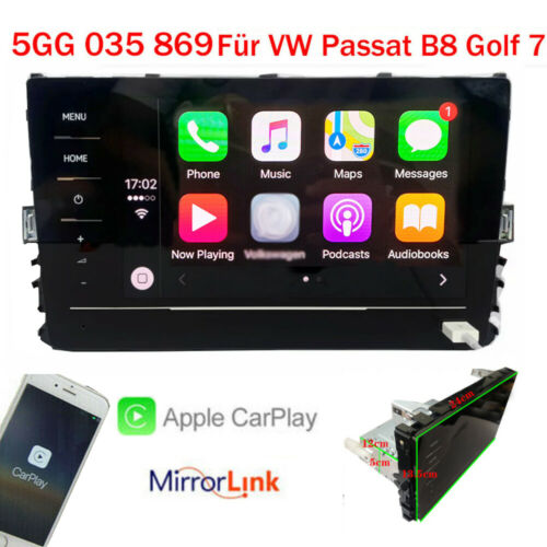 "8"" RCD330 Autoradio Carplay Mirrorlink BT RVC USB Für MQB VW PASSAT B8 GOLF 7"