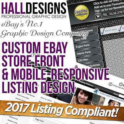 Custom eBay Store Shop & Logo & Listing Template Design Service 2017 Compliant