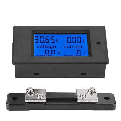 Dc 6.5100v 50alcd Digital Combo Panel Display Volt Amp Power Watt Battery Meter