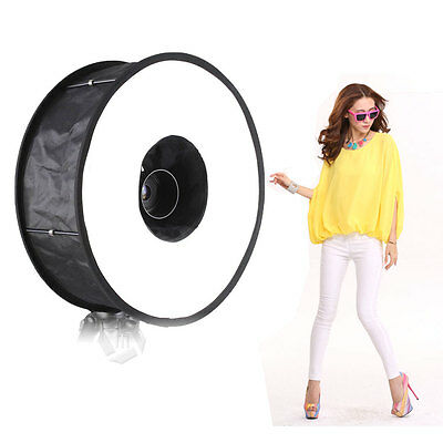 UK Mcoplus Universal SoftBox Collapsible Magnetic Ring Flash Diffuser 45cm/18