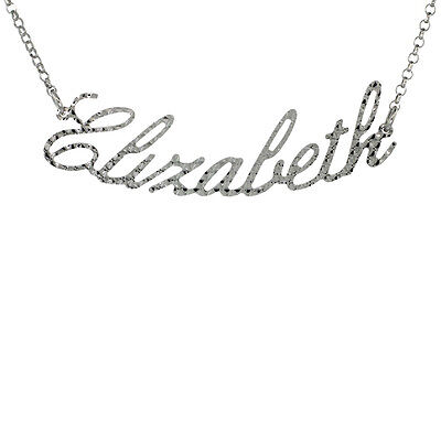 Diamond Cut Name Pendant (Sterling Silver Name Necklace Diamond Cut Finish