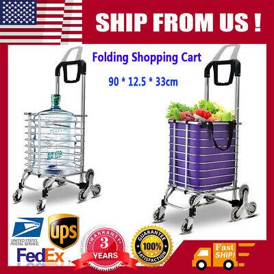 New Urban Stair Climbing Cart 8 Wheels Folding Grocery Laundry Shopping Handcart