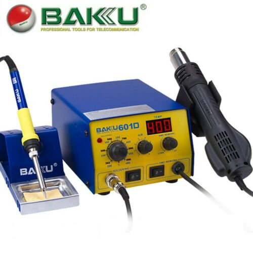 BAKU BK-601D 110V SMD Brushless Heat Gun Soldering Iron Station with Stand 700W