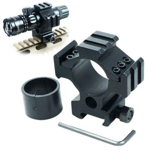 30mm Ring 20mm Picatinny Weaver Rail Scope Mount for Rifle laser Sight Aluminum