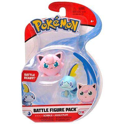 Sobble & Jigglypuff Articulated Pokemon Battle Figure Set Series 4