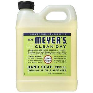 Mrs. Meyers Clean Day Hand Soap Refill, Lemon Verbena 33 oz