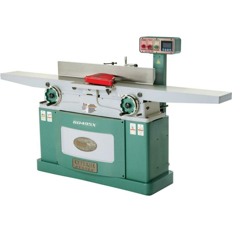 """Grizzly G0495X 8"""" x 83"""" Helical Cutterhead Jointer with Exclusive Digital Hei..."""