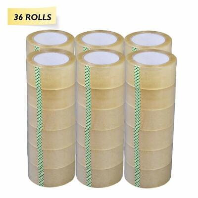 36 Rolls 2 Clear Tapes 110 Yard 330 Ft Clear Packing Tape Carton Sealing Box